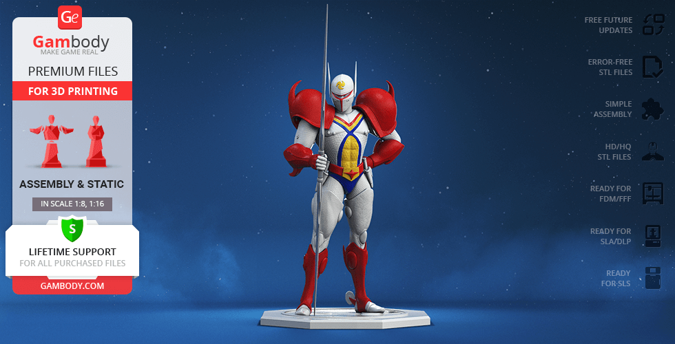 Buy Tekkaman 3D Printing Figurine | Assembly