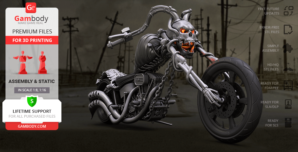 Buy Devil Chopper 3D Printing Model | Assembly