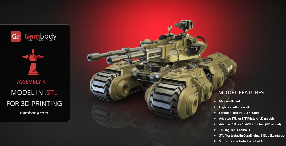 Buy Mammoth Tank 3D Printing Model | Assembly Kit