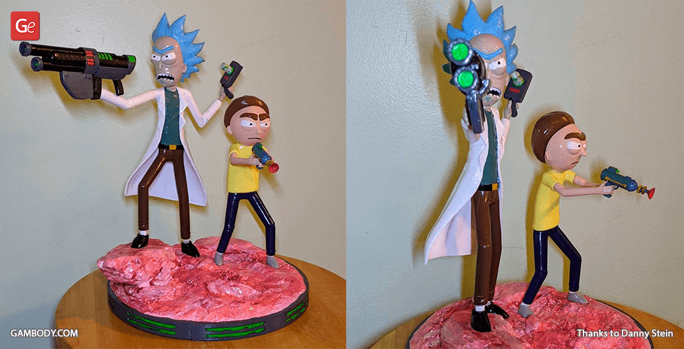 Buy Rick & Morty Fight Scene 3D Printing Figurines in Diorama   Assembly