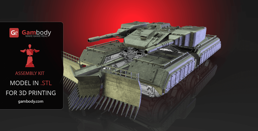 Buy Mammoth Tank Accessories 3D Print Files - Set 1 | Assembly Model