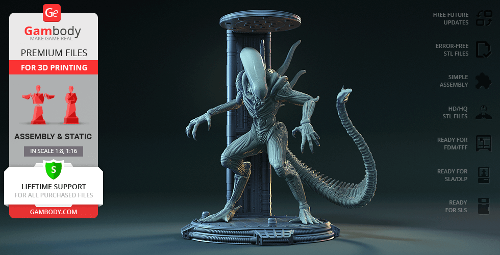 Buy Alien in Chamber 3D Printing Figurine | Assembly