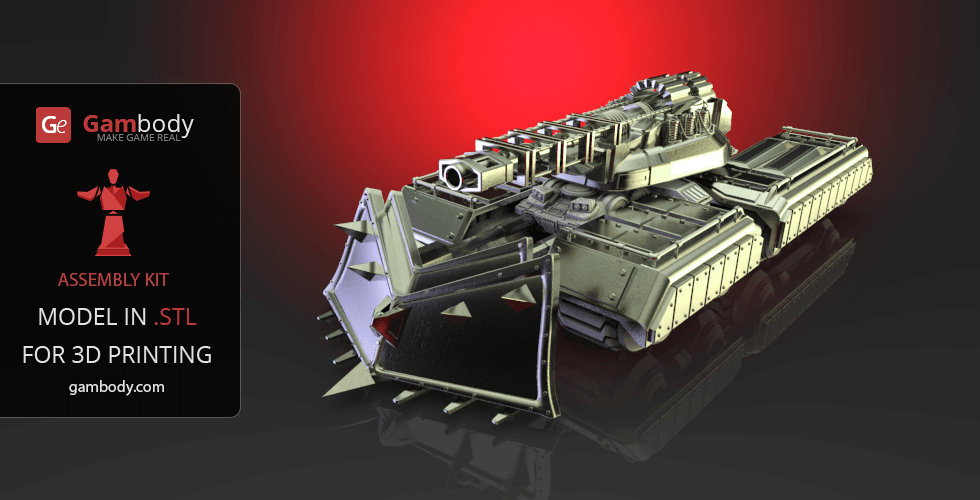 Buy Mammoth Tank Accessories 3D Print Files - Set 2 | Assembly Model