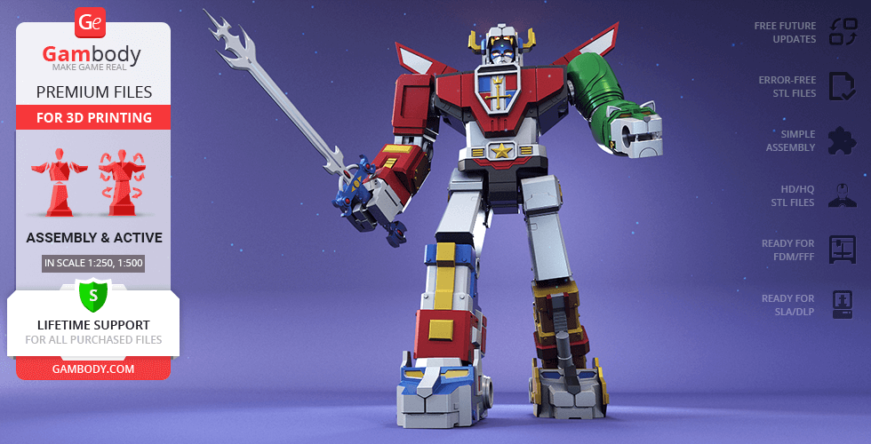 Buy Voltron (1984) 3D Printing Model | Assembly + Action