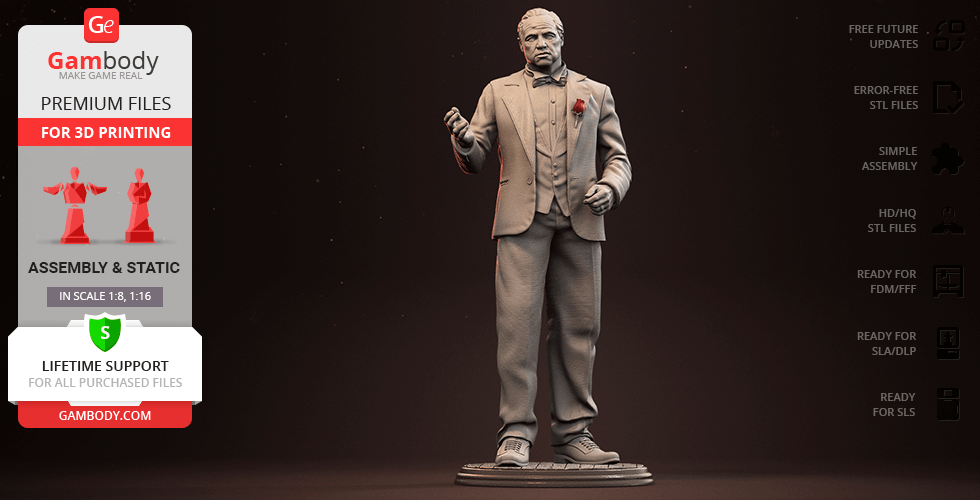 Buy The Godfather 3D Printing Figurine | Assembly