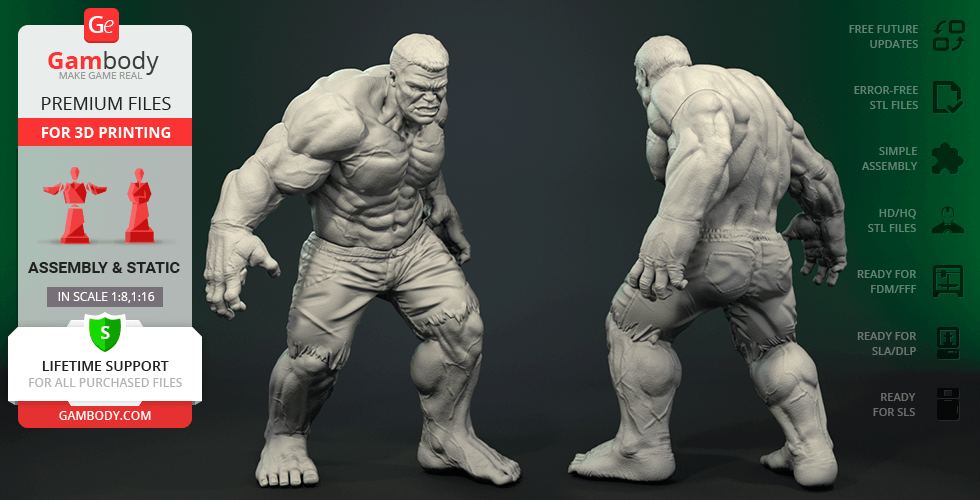 Buy Hulk Ragnarok 3D Printing Figurine | Assembly