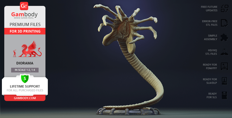 Buy Facehugger 3D Printing Figurine in Diorama | Assembly