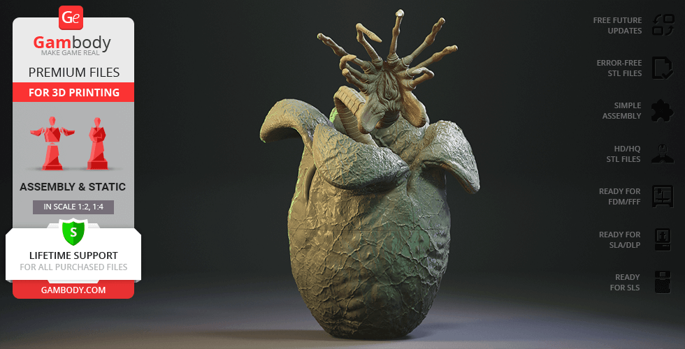 Buy Facehugger & Egg 3D Printing Figurine | Assembly
