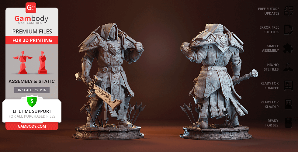 Buy Paladin Judgement Armor 3D Printing Figurine   Assembly
