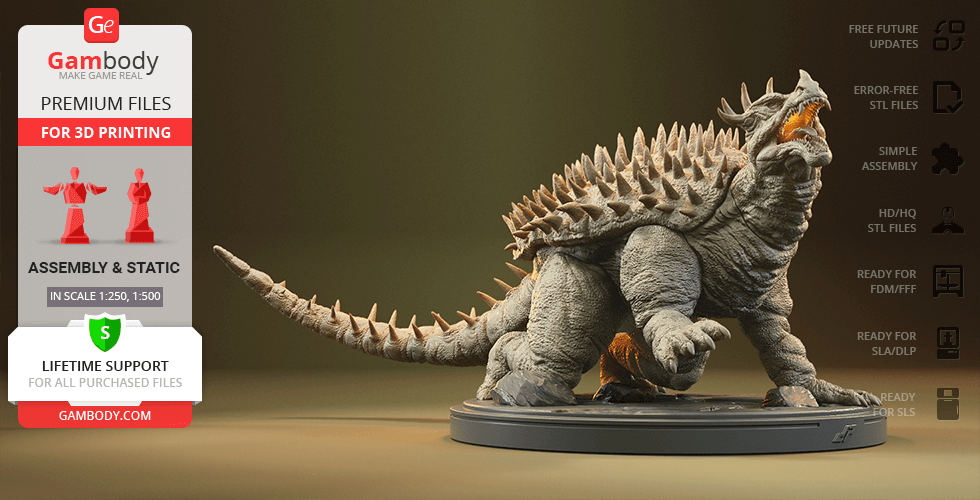 Buy Anguirus 3D Printing Figurine | Assembly