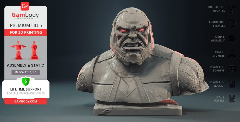 Buy Darkseid Bust 3D Printing Figurine | Assembly