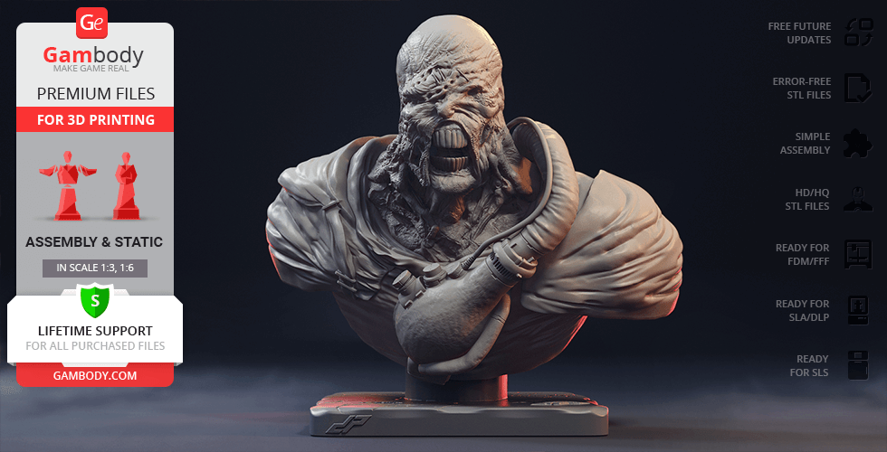 Buy Nemesis Bust 3D Printing Figurine | Assembly