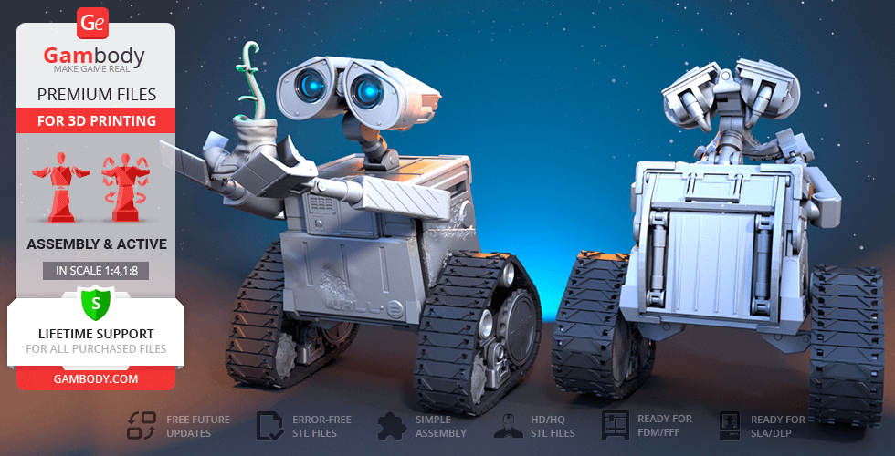 Buy WALL-E 3D Printing Model | Assembly + Action