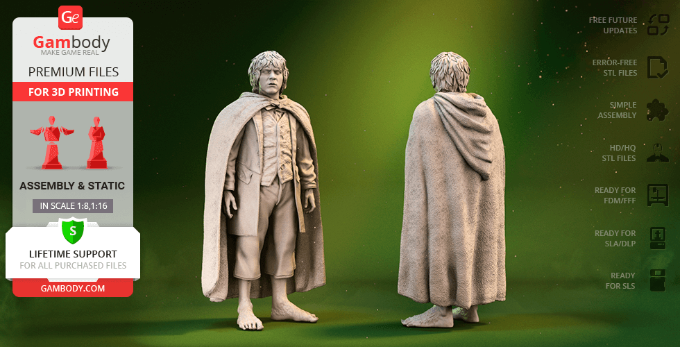 Buy Merry Brandybuck 3D Printing Figurine | Assembly