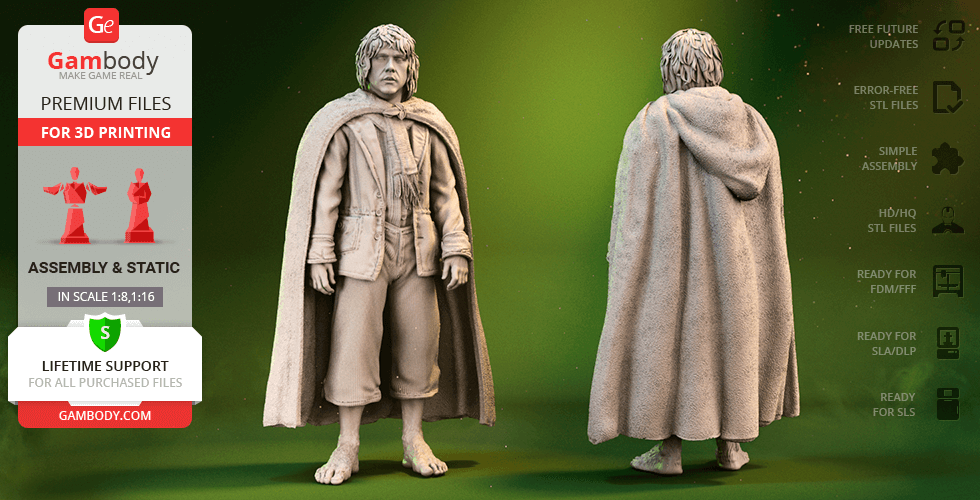 Buy Pippin Took 3D Printing Figurine | Assembly