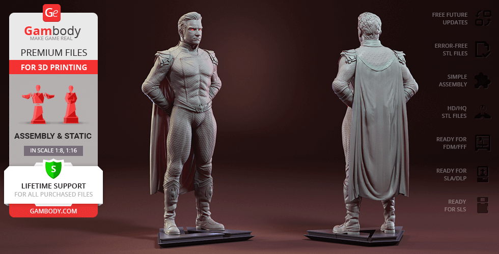 Buy Homelander 3D Printing Figurine | Assembly