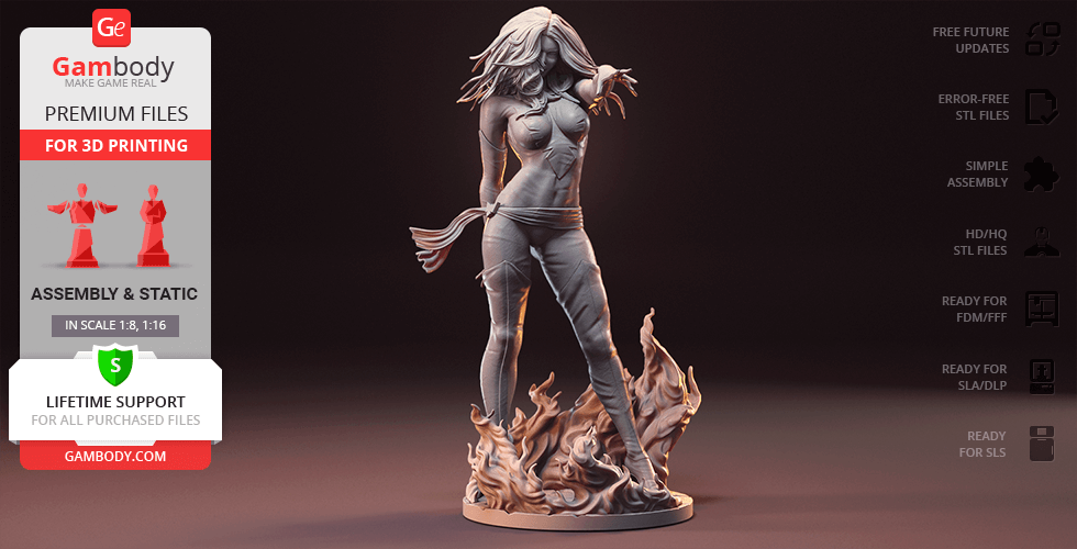 Buy Dark Phoenix 3D Printing Figurine | Assembly