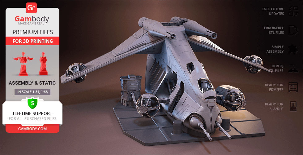 Buy LAAT/i Gunship 3D Printing Model | Assembly
