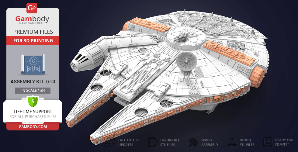 Buy Millennium Falcon Tracery, Docking Ring, Decor 3D Printable Exterior Parts Kit 4