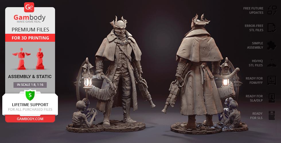 Buy The Hunter 3D Printing Figurine | Assembly