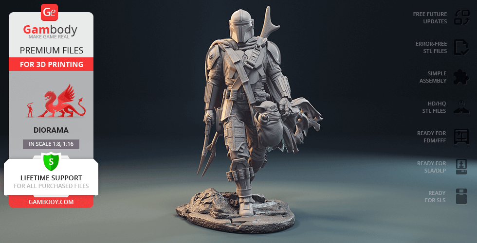 Buy The Mandalorian 3D Printing Figurine | Assembly