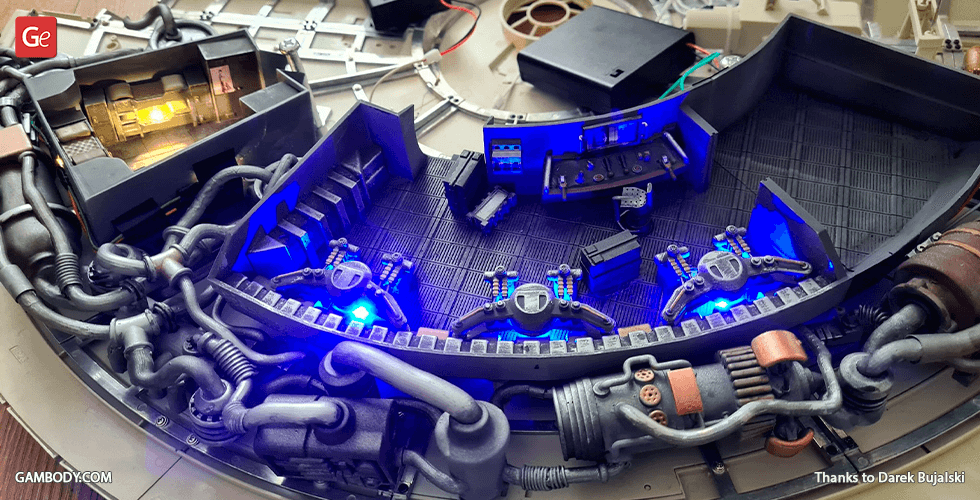 Buy Millennium Falcon Interior 3D Printable Parts Kit 2: Hyperdrive and Engineering Bay