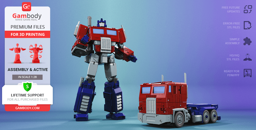 Buy Optimus Prime 3D Printing Model | Action Assembly