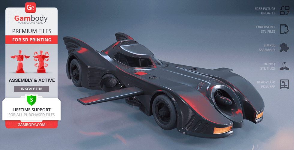 Buy Batmobile 1989 3D Printing Model | Assembly + Action
