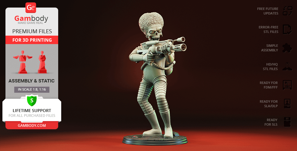 Buy Martian 3D Printing Figurine | Assembly