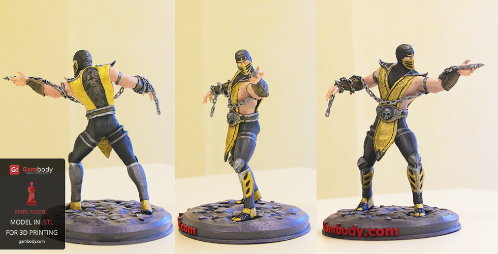Buy Scorpion  Mortal Kombat 3D Print Model | Static Figure