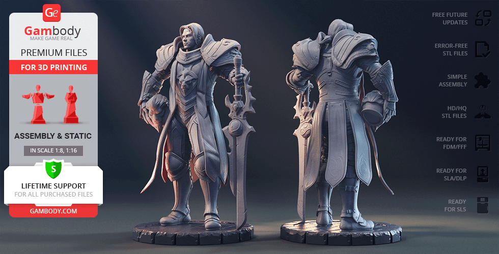 Buy Anduin Wrynn 3D Printing Figurine | Assembly