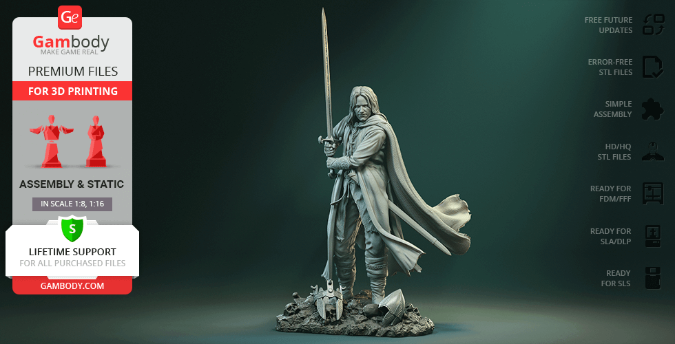 Buy Aragorn 3D Printing Figurine | Assembly
