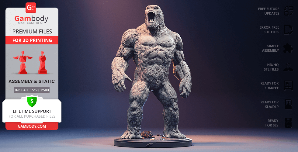 Buy Kong 3D Printing Figurine | Assembly