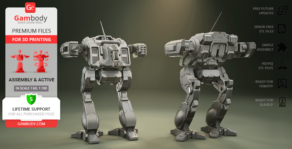 Buy MWO Shadow Cat 3D Printing Model | Assembly + Action