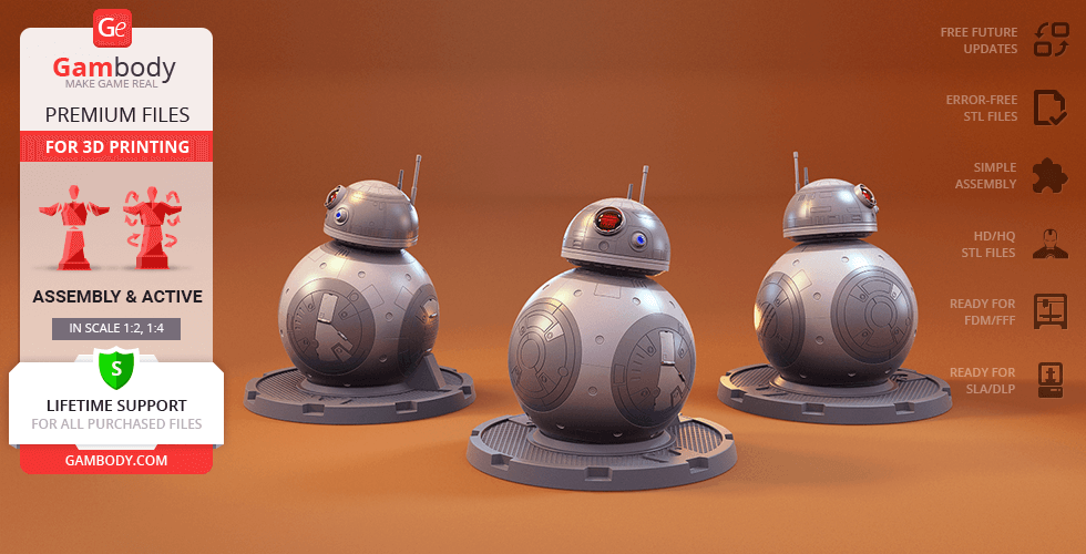 Buy BB-8 3D Printing Model | Assembly + Action