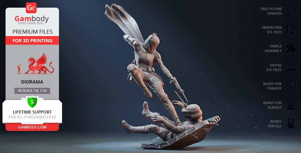Buy Bo-Katan 3D Printing Figurine in Diorama | Assembly