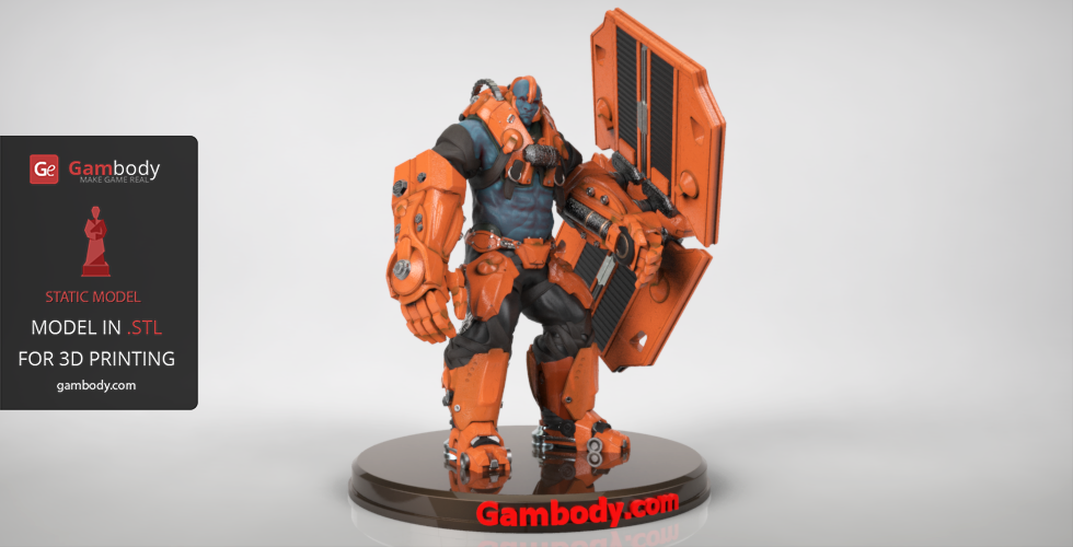 Buy Paragon Steel 3D Printable Design | Static Figure