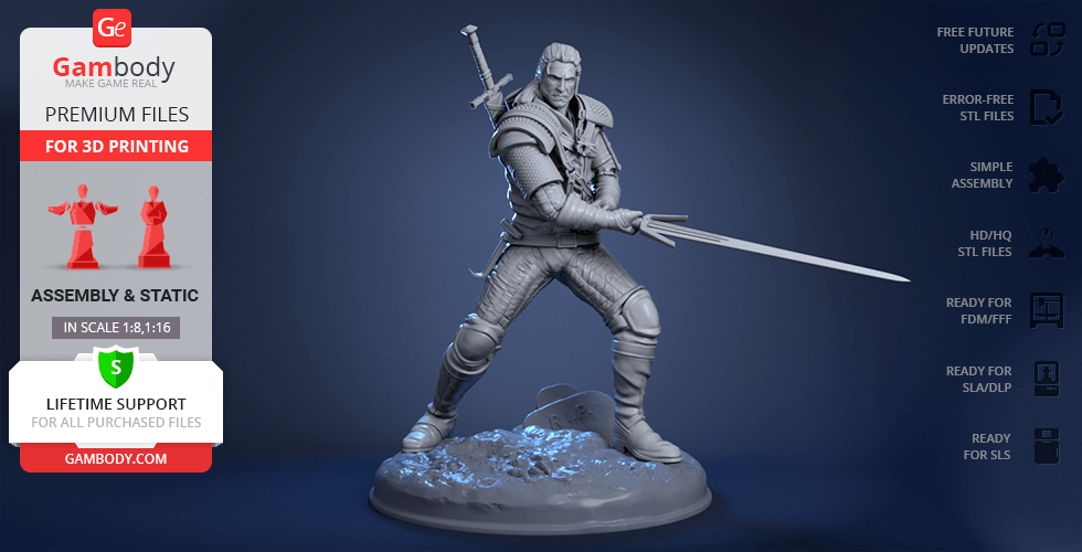 Buy Witcher 3D Printing Figurine | Assembly
