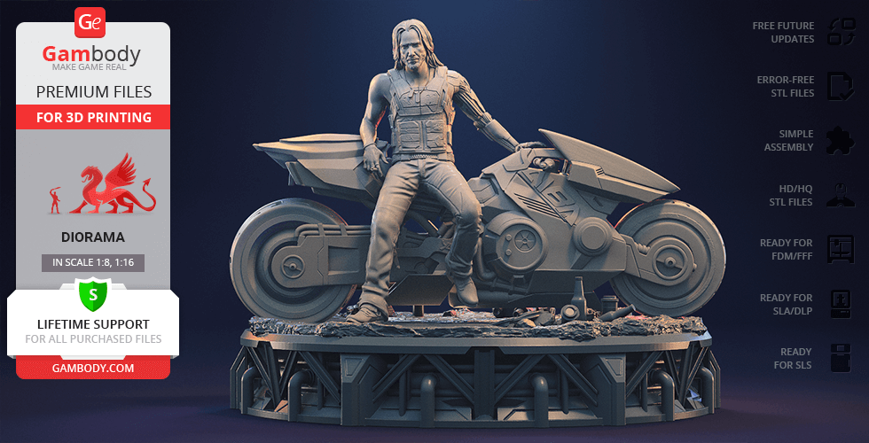Buy Cyberpunk Diorama for 3D Printing | Assembly