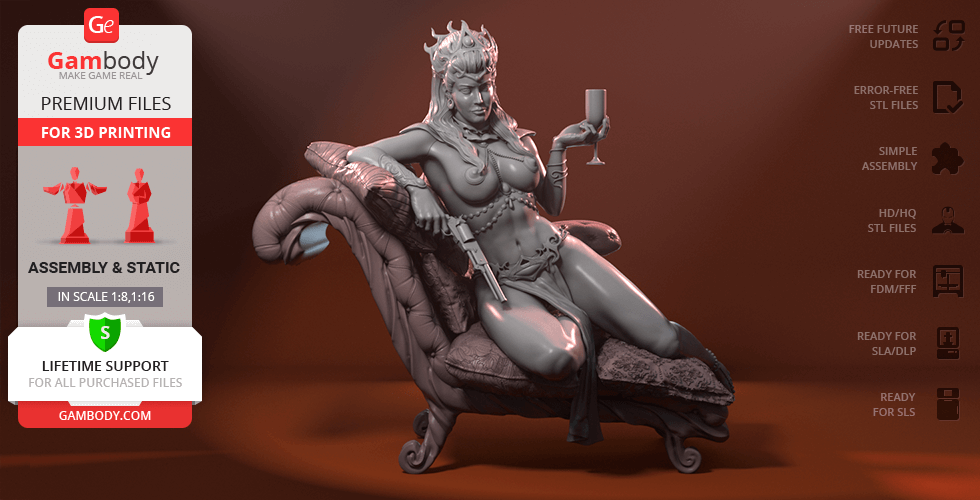 Buy Dejah Thoris 3D Printing Figurine | Assembly