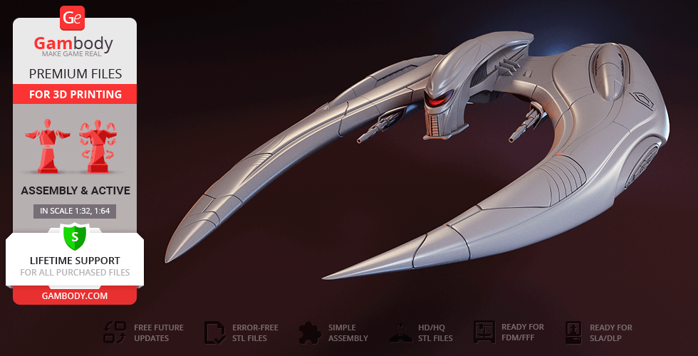 Buy Modern Cylon Raider 3D Printing Model | Assembly