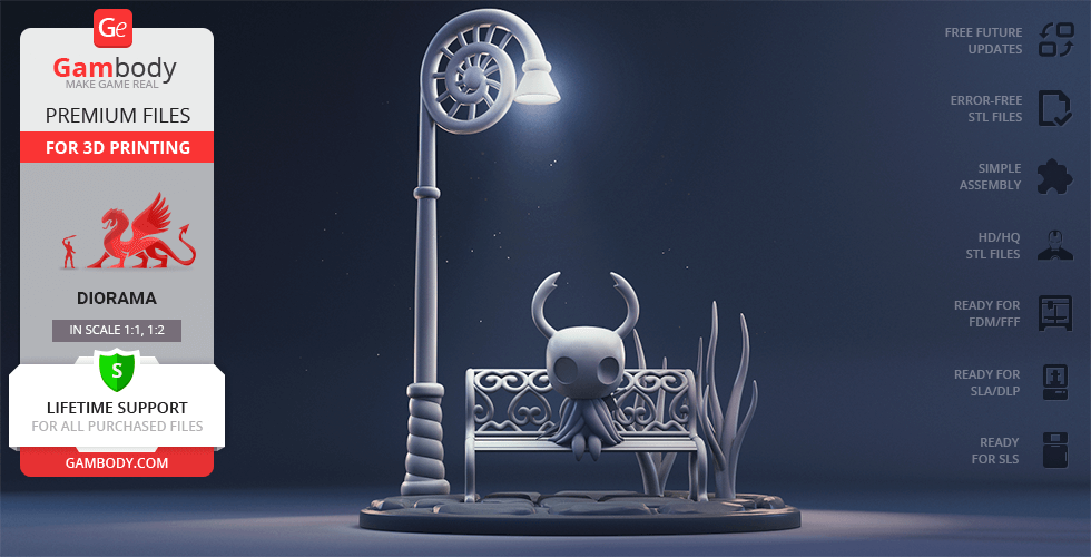 Buy Hollow Knight 3D Printing Figurine in Diorama | Assembly