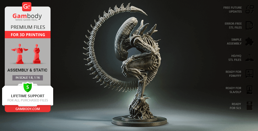 Buy Alien Birth 3D Printing Figurine | Assembly