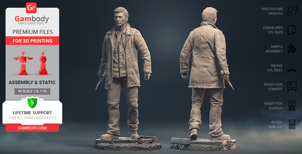 Buy Dean Winchester 3D Printing Figurine | Assembly