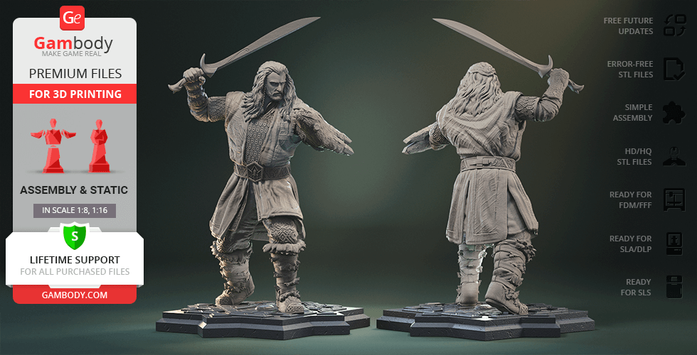 Buy Thorin Oakenshield 3D Printing Figurine | Assembly