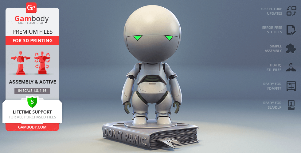 Buy Marvin The Paranoid Android 3D Printing Model | Assembly
