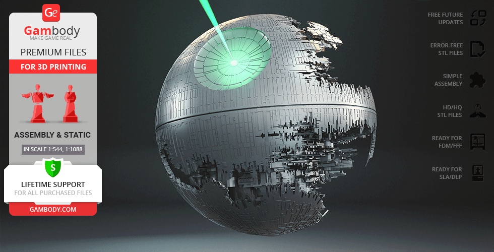 Buy Death Star II 3D Printing Model | Assembly