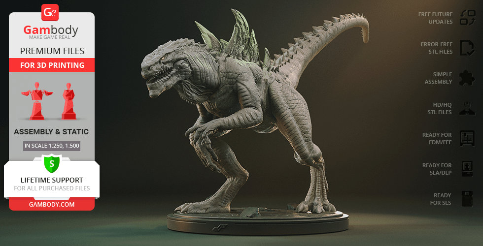 Buy Zilla 3D Printing Figurine   Assembly