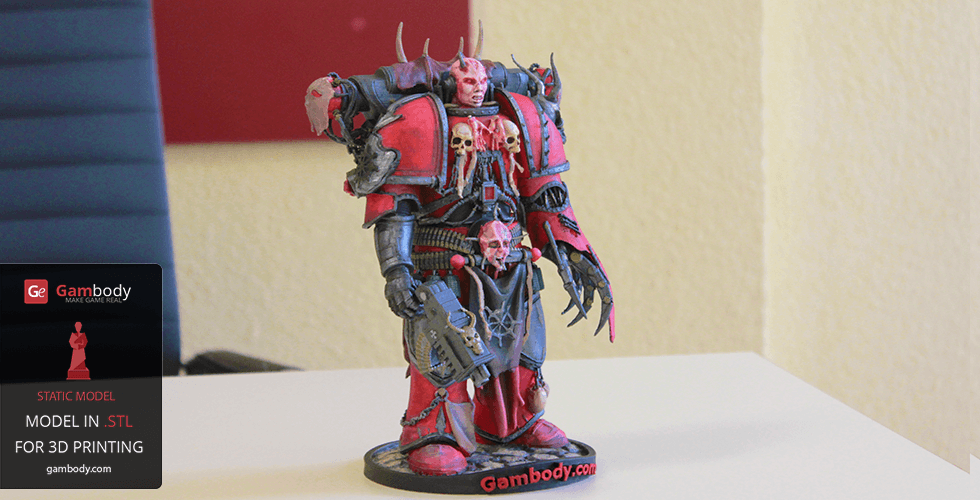Buy Chaos Space Marine WH40K 3D Print Figure | Static Model