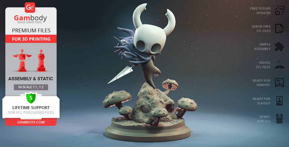 Buy Hollow Knight Adventure 3D Printing Figurine   Assembly